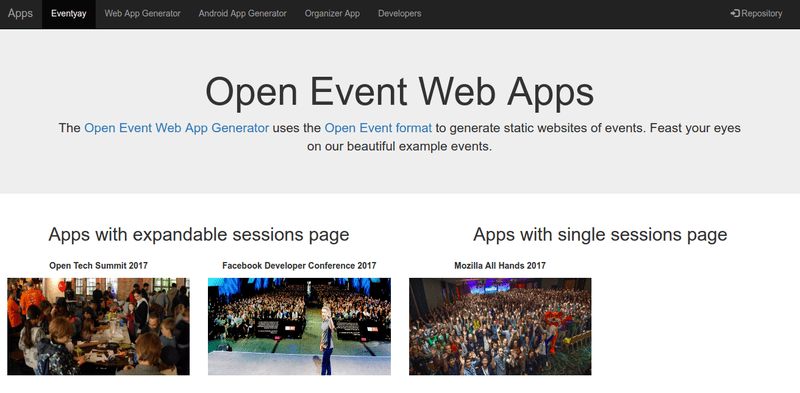 Building a showcase site to display sample events and auto deploying them on each PR merge in Open Event Webapp