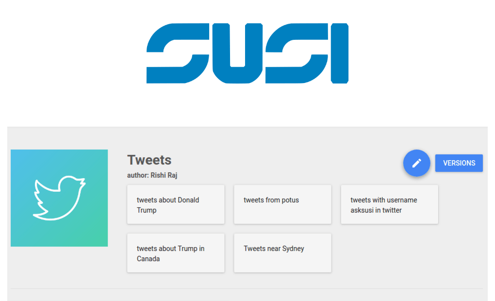 Modifying SUSI Skills using SUSI Skill CMS