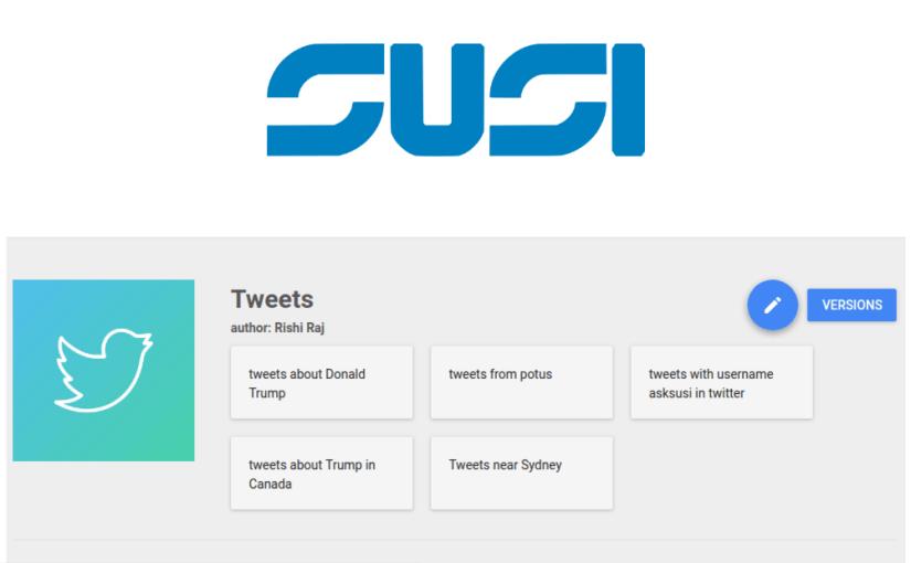 Modifying SUSI Skills using SUSI Skill CMS