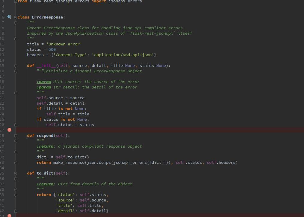 Open Event Server: Forming jsonapi Compatible Error Responses In flask-rest-jsonapi Decorators