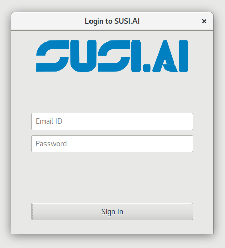 Making GUI for SUSI Linux with PyGTK | blog fossasia org