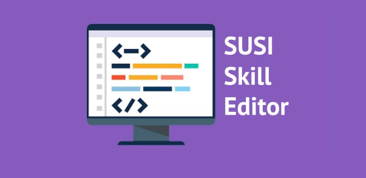 Skill Editor in SUSI Skill CMS