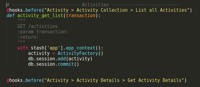 Working with Activity API in Open Event API Server