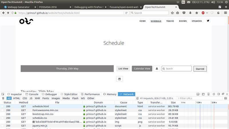 Adding Service Workers In Generated Event Websites In Open Event Webapp