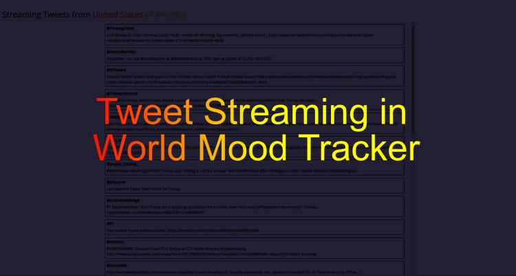 Adding Tweet Streaming Feature in World Mood Tracker loklak App