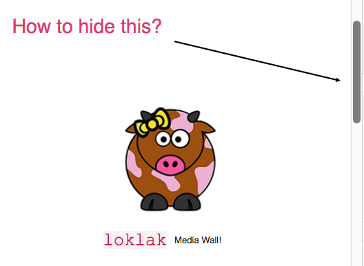 Hiding the Scrollbar in HTML in the loklak Media Wall