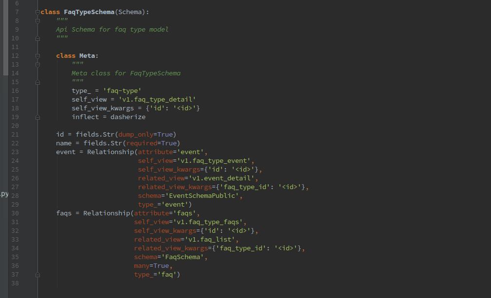 Open Event API Server: Implementing FAQ Types