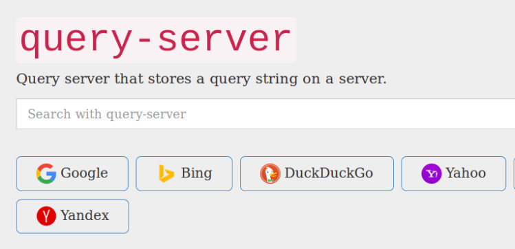 Installing Query Server Search and Adding Search Engines