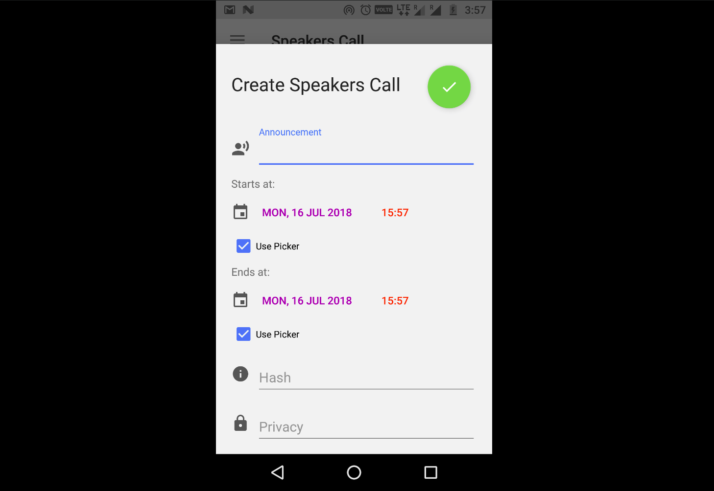 Create Call for Speakers with Open Event Organizer Android App