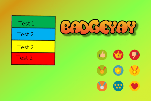 Different Text Color On Each Line In Badgeyay