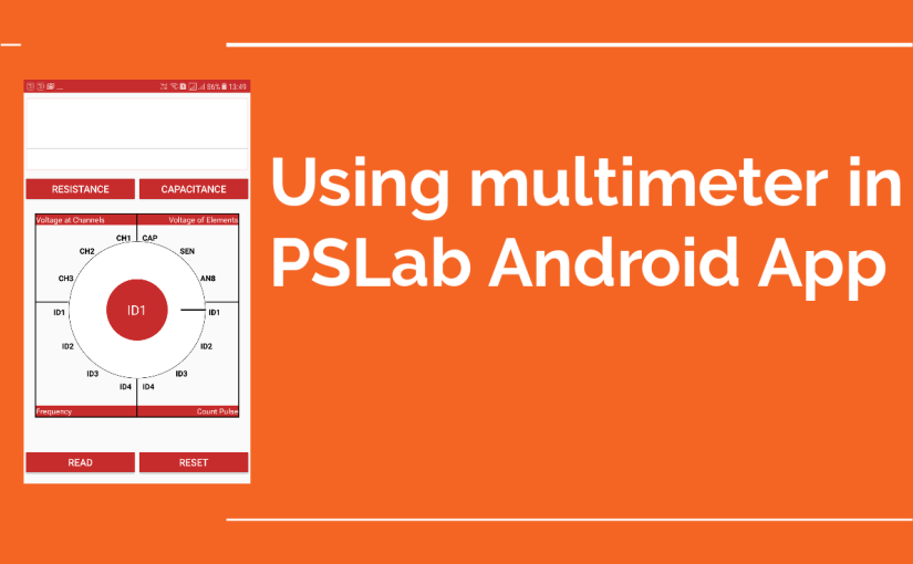 Using Multimeter in PSLab Android Application
