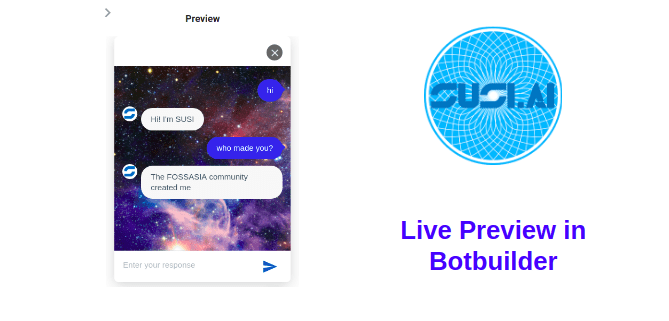 Making Live Preview Component in SUSI.AI Botbuilder