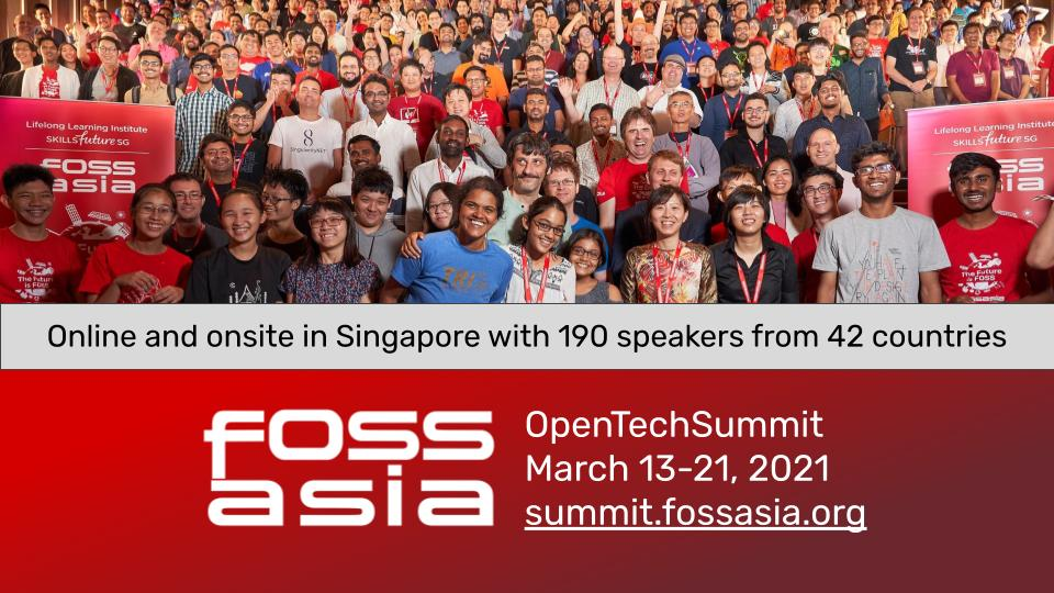 FOSSASIA Virtual Summit 2021 Schedule and Highlights