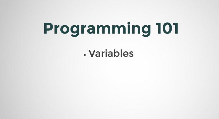 Variables in Programming