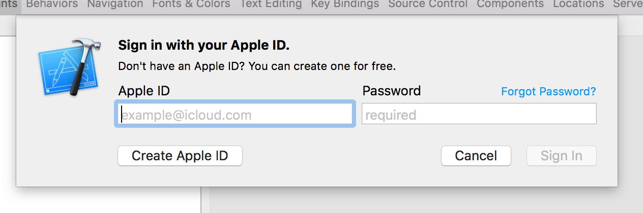 Step 5 - Developer account login