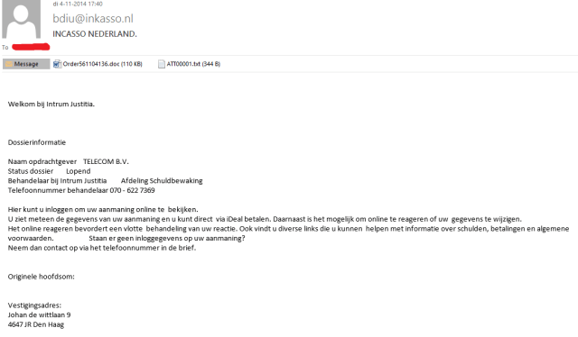 incasso mail