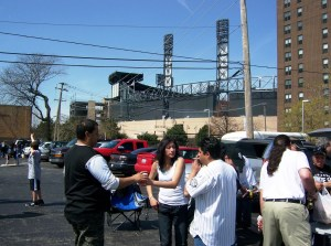 Tailgating before the White Sox game