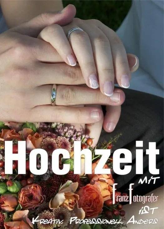 Hochzeit - Hochzeitsreportage und Portraits - Hochzeitsfoto mit Franz Fotografer