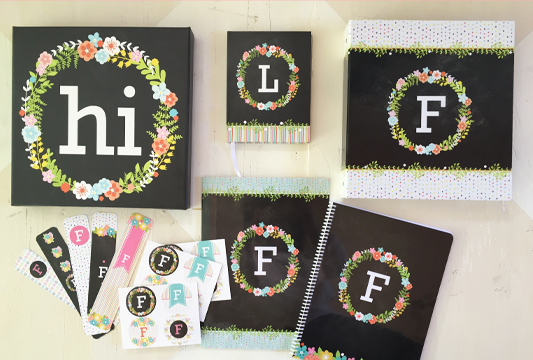 back to school with the floral monogram collection