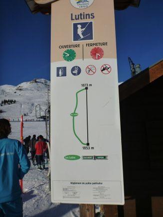 Les Lutins, téléski et piste verte pour débutant