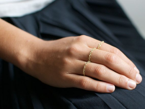 diy-gold-chain-rings