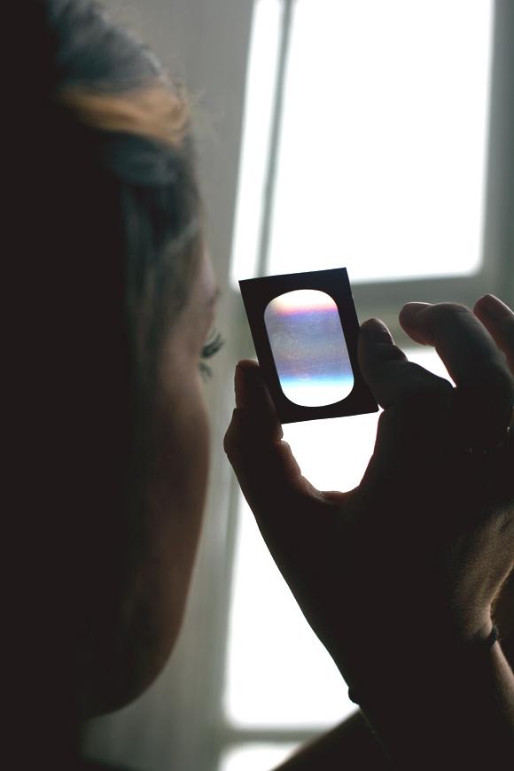 looking through prism
