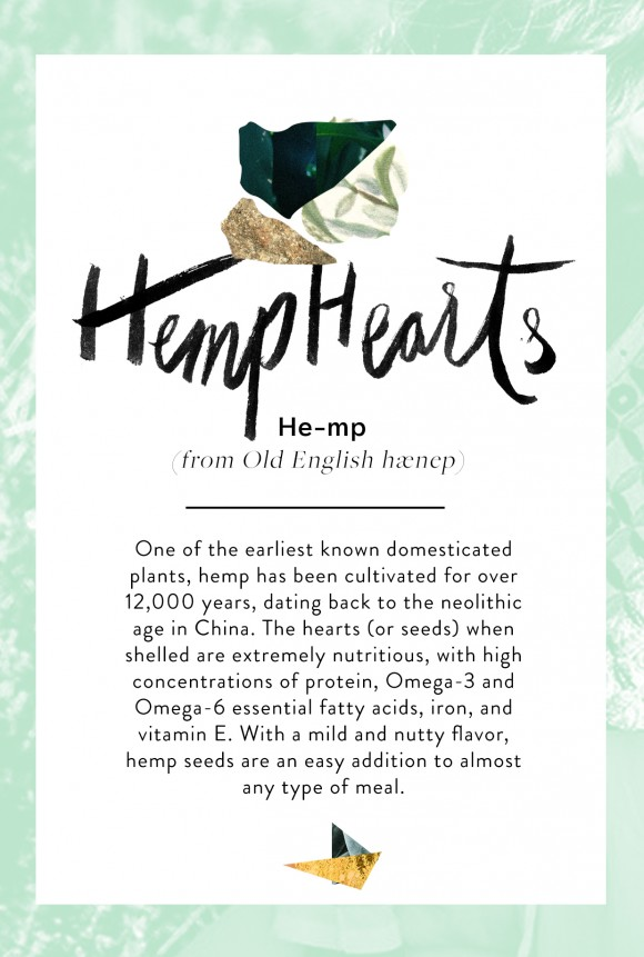 Post image for Wellness Encyclopedia: Why We Heart Hemp + A Grain-Free Tabbouleh Recipe
