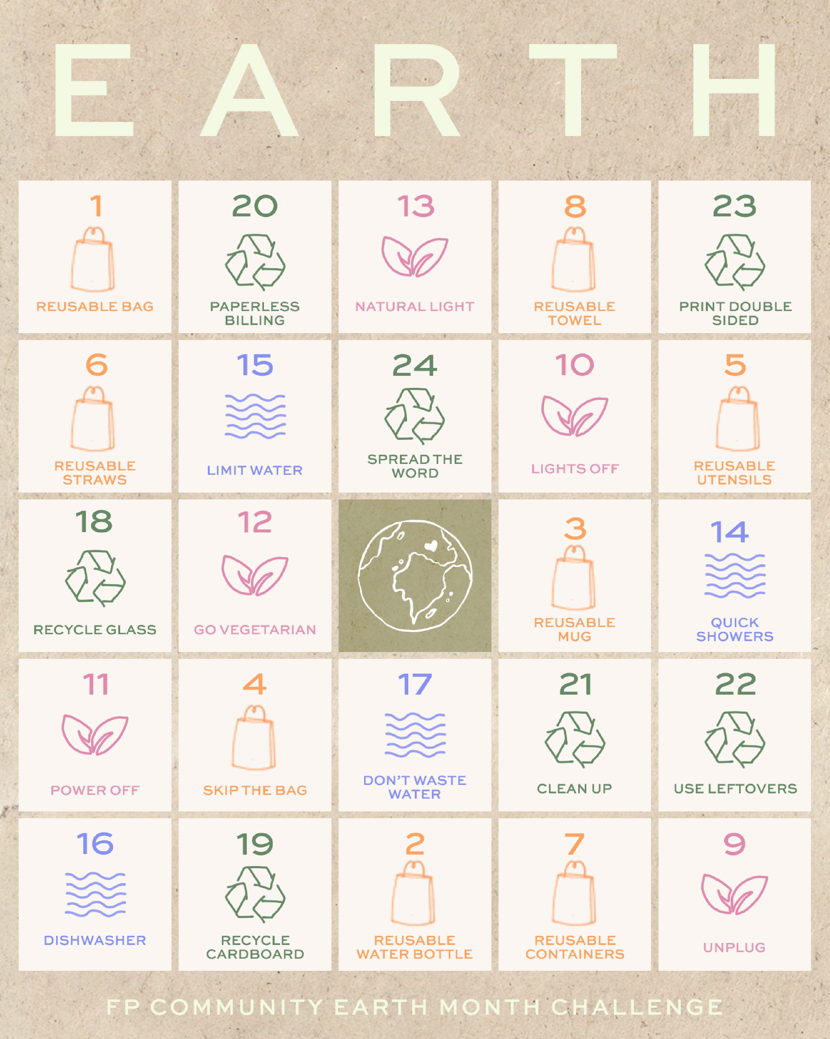An Earth Month Challenge For Every Day Of The Year