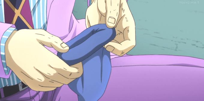 靴下をきちんと履かせてあげる吉良