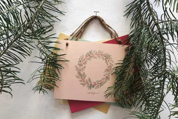Pink BG Sides - French & French - Nicole Guerra wreath design