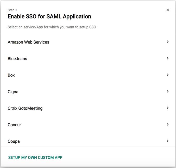 1. Setup Custom App