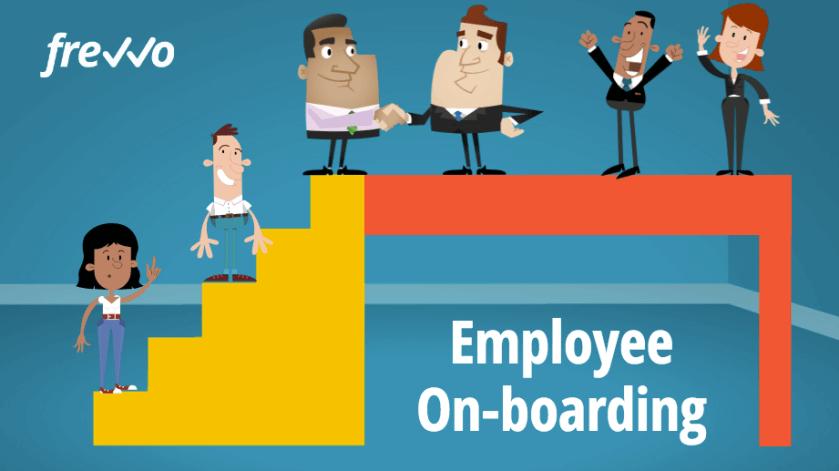 Employee onboarding process.
