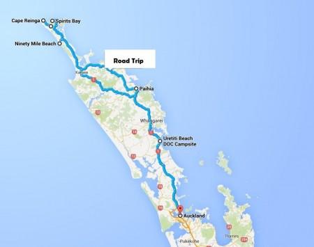 Map - AKL - CapeReinga