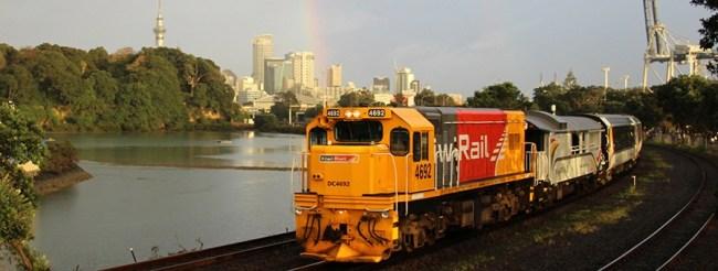 Train arrivée Auckland