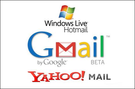 Gmail, Yahoo!, Hotmail