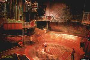 "Starlight Express (c) RUG Ltd. The auditorium contained an area known as ""The Paddock"""