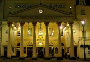 The beautiful Theatre Royal Haymarket: the current building dates from the Regency period.