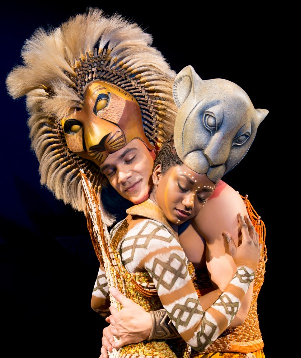'The Embrace' - Nick Afoa as Simba, Janique Charles as Nala 2017 ©Disney .jpg