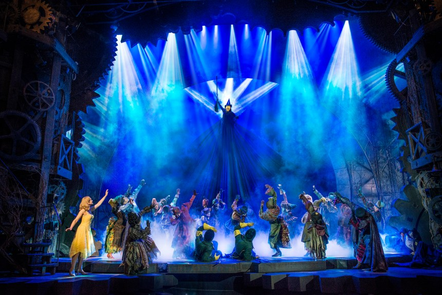 Production still from Wicked, one of the highest grossing shows on Broadway