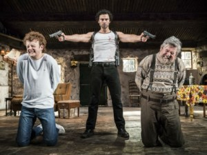 Production still from The Lieutenant of Inishmore starring Aidan Turner