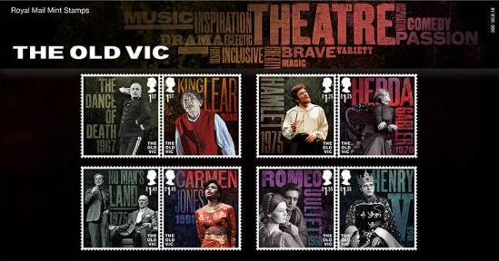 The Old Vic 200 anniversary stamps