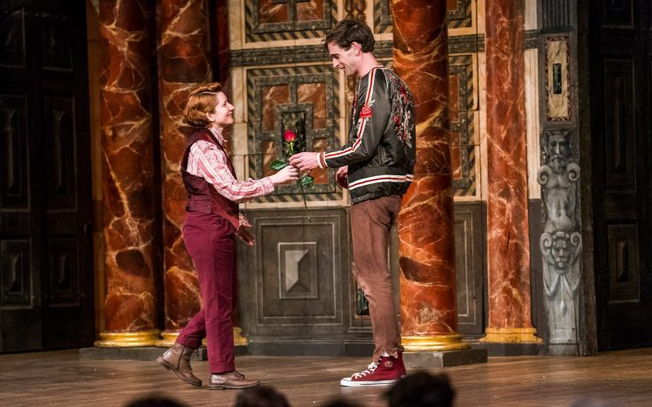 As You Like It at Shakespeare's Globe production still