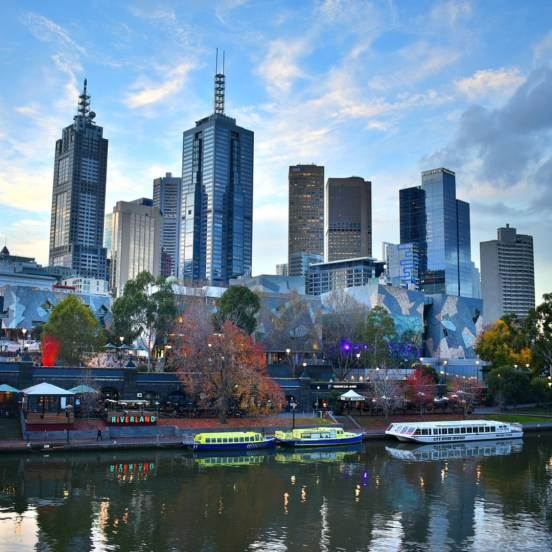 World Theatre Day - Melbourne's skyline