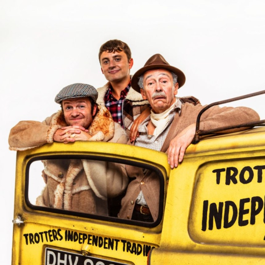 Fathers Day Theatre Dads - Del Boy, Rodney and Grandad with their trusty three wheeler.