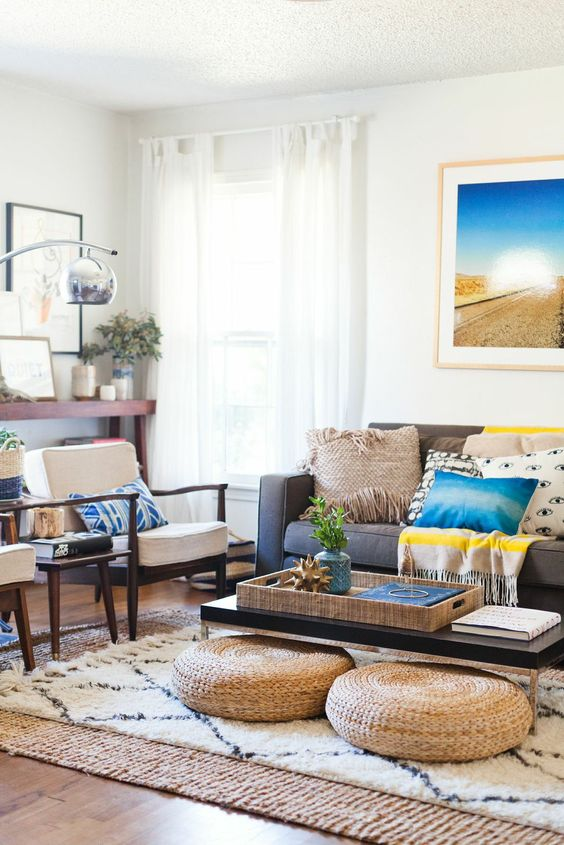 Living Room Decorating Ideas   Layer Rugs Part 51