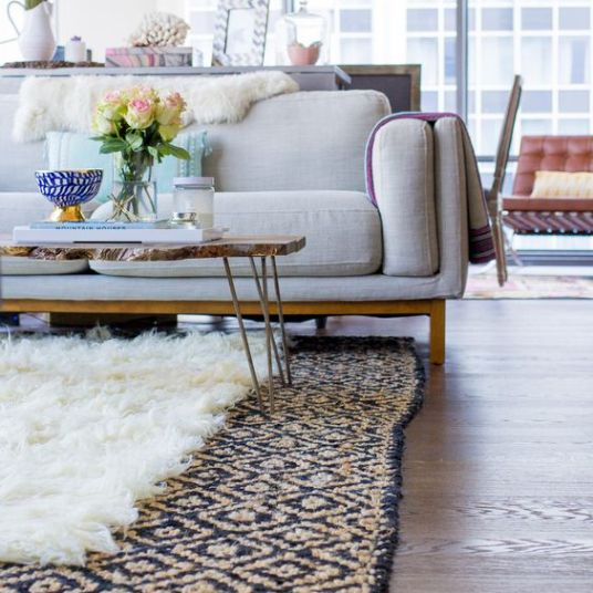 Living Room Decorating Ideas - Layer Rugs