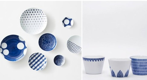 Blue White Pots and Trays