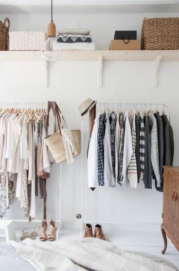 White Open Closet