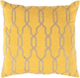 Glamorous Geometric Sunflower Pillow