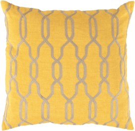 Glamorous Geometric Sunflower Pillow